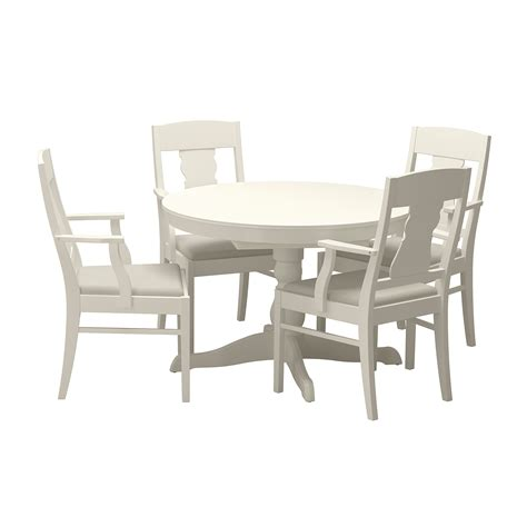 ingatorp ingatorp table and 4 chairs white 110 155 cm ikea