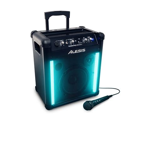Speakers With Lights by Alesis Transactive 2 Portable Rechargeable Bluetooth