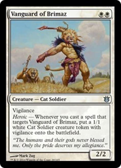 cat deck mtg goldfish vanguard of brimaz born of the gods gatherer magic