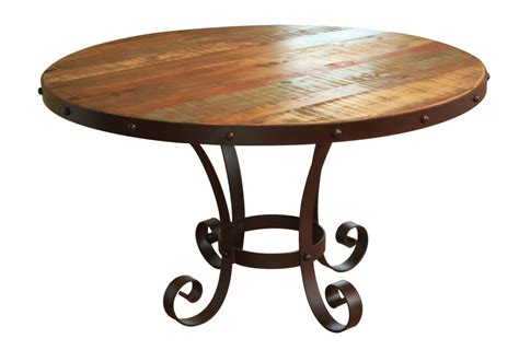 multi coloured table l painted round dining table rustic round diniing table
