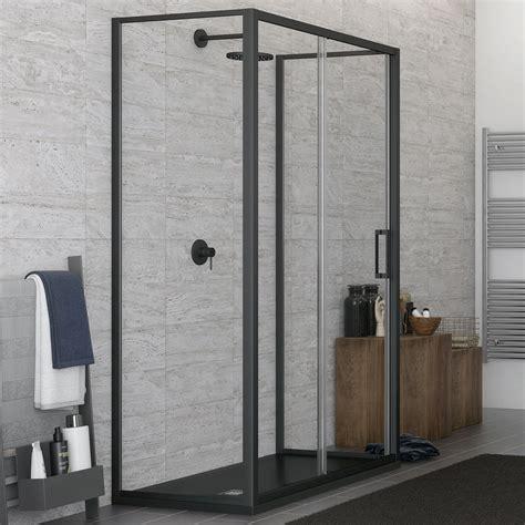 box doccia 3 lati cristallo box doccia 3 lati con profilo nero 70x120x70 cm scorrevole