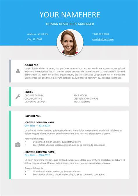 le marais  modern resume template  word docx
