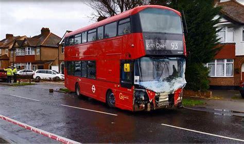 sutton double decker bus crash  injured  driver
