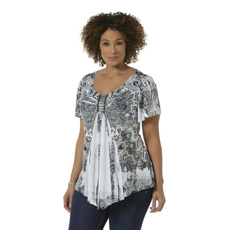 womens plus size blouses live and let live 39 s plus embellished sleeve