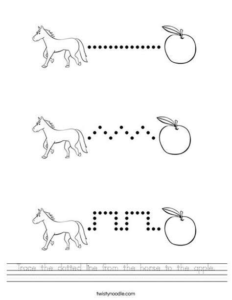 trace  dotted    horse   apple