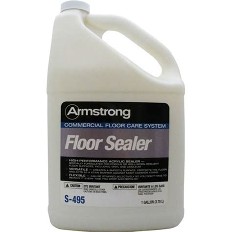 Armstrong Tile And Vinyl Floor Cleaner Msds by Armstrong S495 Vct Sealer Commercial Floor Care System