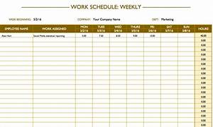 Free work schedule templates for word and excel for Work schedule templates free