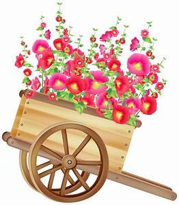 Pot De Fleur Transparent : wheelbarrow with flowers clipart ~ Teatrodelosmanantiales.com Idées de Décoration