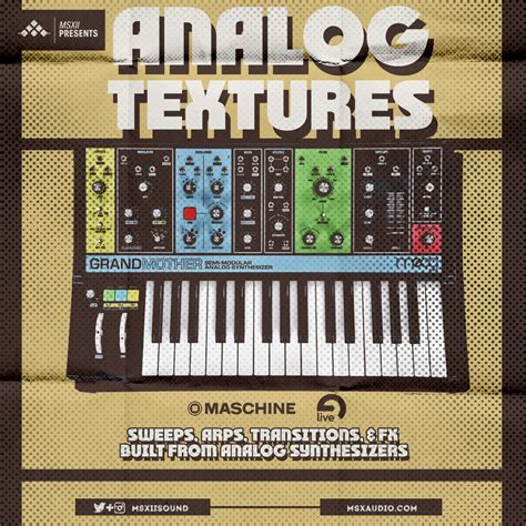 analog textures sweeps arps  transition fx msxii