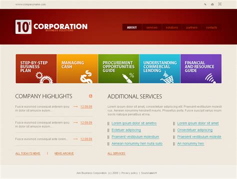 cms template business flash cms template 26171