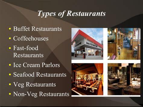 Types Of Restaurants