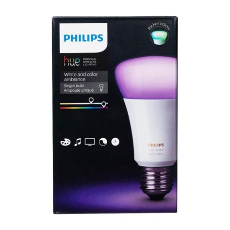 hue 60w equivalence white and color ambiance a19 single