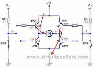 H Bridge Motor Driver Theory  U0026 Practical Circuit Using Transistors  Simulation