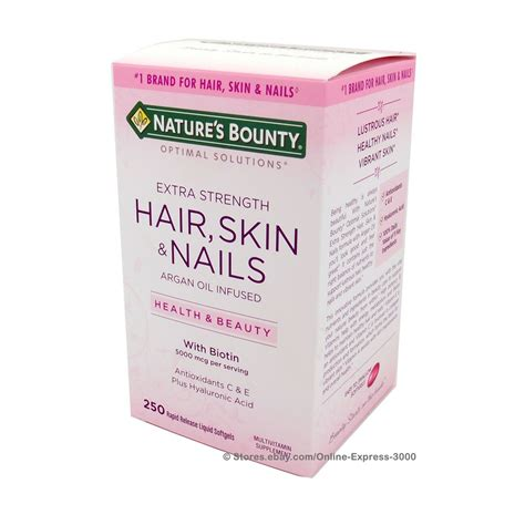 Garden Of Hair Skin Nails by Nature S Bounty Hair Skin And Nails 5000 Mcg Biotin