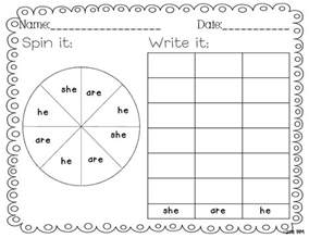 Kindergarten Sight Words Activity