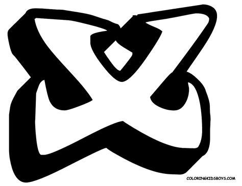 Graffiti X Letter : Graffiti Fonts Letters Alphabet