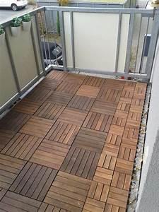 Bodenbelag holzfliesen fur balkon und terrasse in hanau for Holzfliesen terrasse