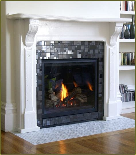 Gas Fireplace Tile Surround   Home Design #23231   Home