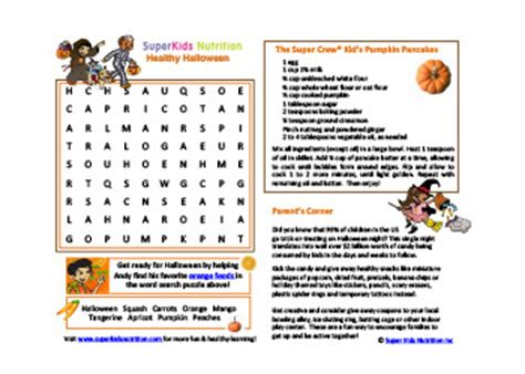 healthy activities for superkids nutrition 354 | fun healthy halloween with Andy