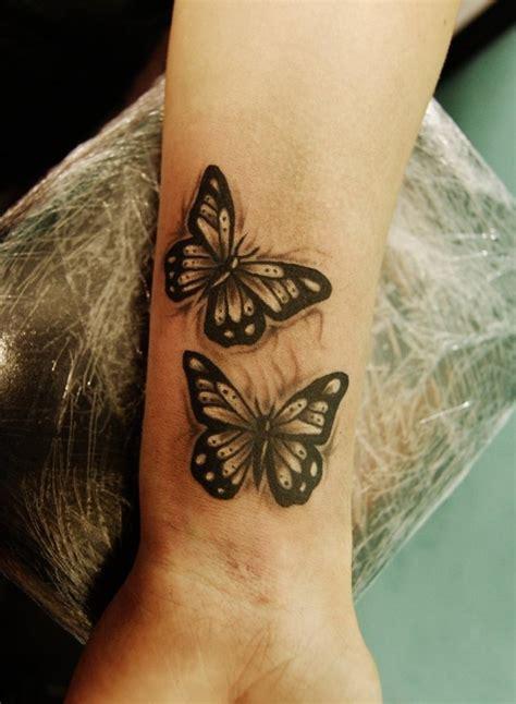 fantastic butterflies wrist tattoos design