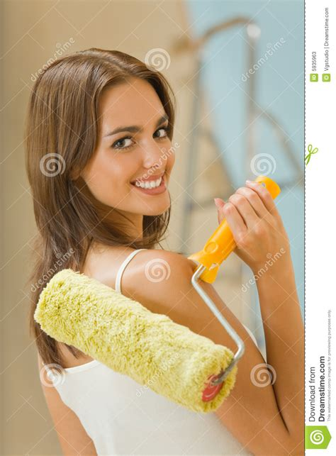 with paint roller stock photos image 5935963