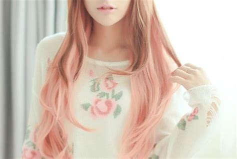 pastel pink  brown ombre hair hair pinterest