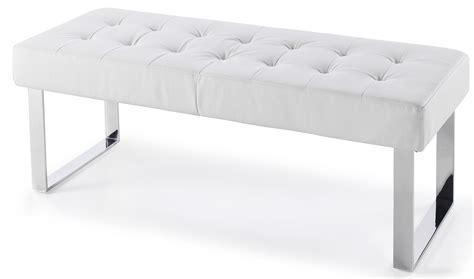 banc de lit effet cuir blanc dezina lestendances fr