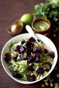Roasted Beet Salad with Avocado