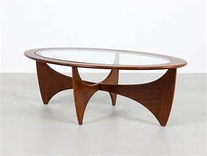 G plan astro teak oval coffee table by victor wilkins for Oval teak coffee table
