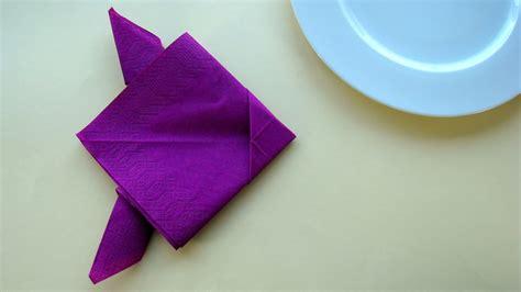 servietten falten fisch servietten falten einfach fische falten mit papier servietten tischdekoration