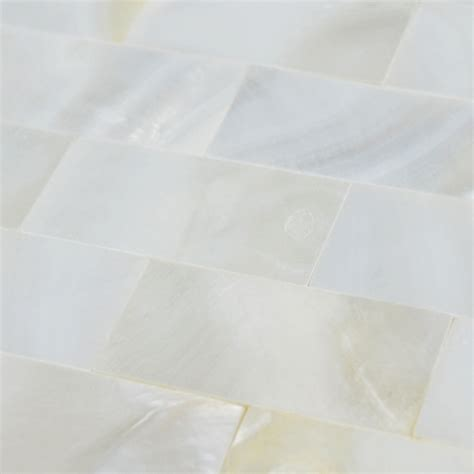 of pearl subway tile backsplash for kitchen and