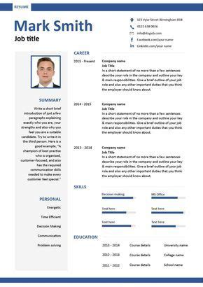 Cv Layout Exles by Free Downloadable Cv Template Exles Career Advice How To