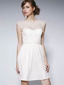 Casual white wedding dresses dress ty for White casual wedding dress
