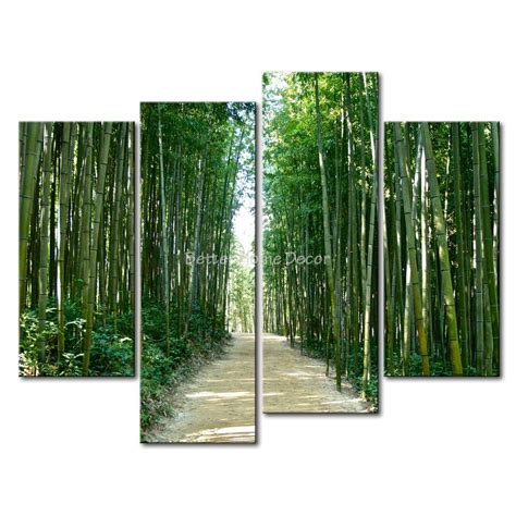 3 piece green wall art painting bamboo forest in korea mud road print on canvas the picture