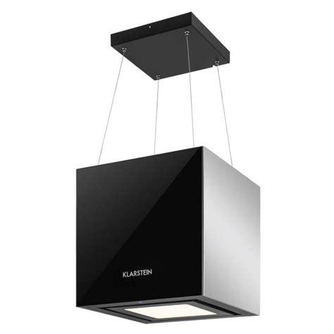 hotte aspirante 238 lot suspension plafond led verre r 233 fl 233 chissant noir noir klarstein