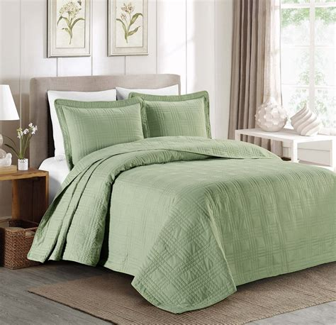 Green Coverlets by Top 5 Green Bedspreads You Ll Interiors By Color