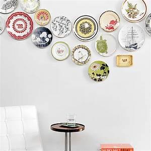Plate wall decor diy popsugar home