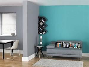bleu turquoise et gris en 30 idees de peinture et With peinture mur bleu gris
