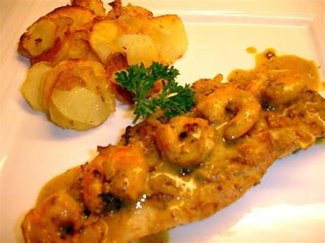recette de filet de cabillaud aux crevettes sauce curry