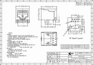 Shield Side Entry Rj45 Modular Jack Connector   8p8c