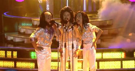 young boys dress  bee gees making everyones mouth