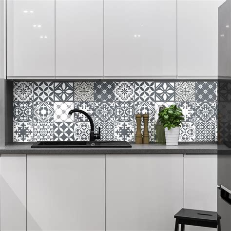 stickers carreaux cuisine 15 stickers carrelages azulejos nuance de gris tendance