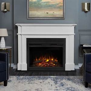 real flame harlan grand 55 in electric fireplace in white With 3 benefits of choosing modern electric fireplace
