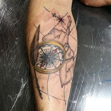 rose  compass tattoo designs meanings choose