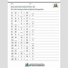 Balancing Math Equations