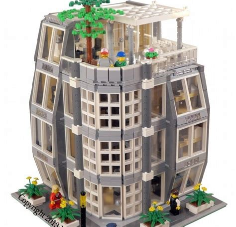 Details About Lego Skyscraper Office Building Law Firm