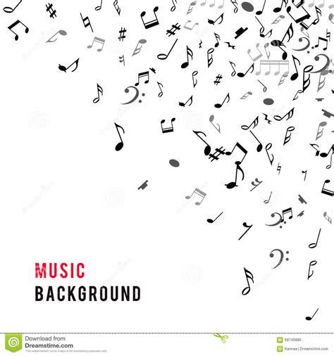abstract musical frame  border  black notes