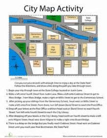 Preschool Following Directions Worksheet City Map Worksheet Education Com
