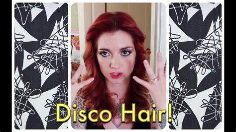disco feathered vintage hair tutorial  cherry