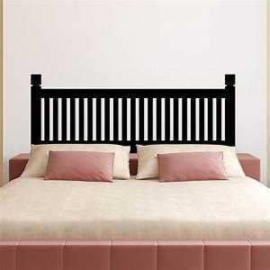 Tete De Lit Simple : stickers muraux t tes de lit sticker mural t te de lit en bois simple ambiance ~ Nature-et-papiers.com Idées de Décoration